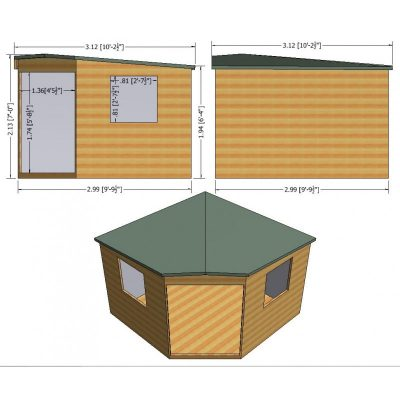 Murrow Corner Shed  10 x 10