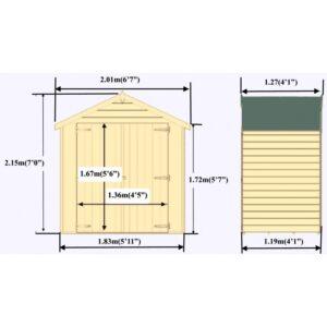Overlap Dipped Double Door flatpacked 4 x 6ft