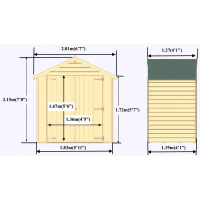 Overlap Pressure treated D/Door 4 x 6ft