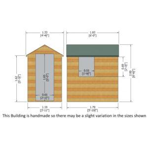Overlap Dipped Single Door flatpacked 6 x 4ft
