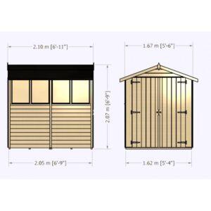 Overlap Dipped Double Door flatpacked 7 x 5ft