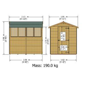 Overlap Dipped Single Door flatpacked 7 x 5ft