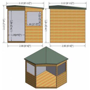 Murrow Corner Shed  7 x 7
