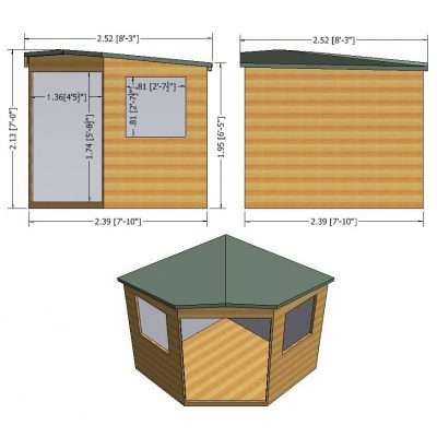 Murrow Corner Shed  8 x 8