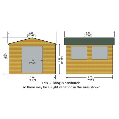 Bison WorkShop Garden Shed 10 x 10