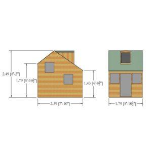 Cottage Playhouse 6 x 8