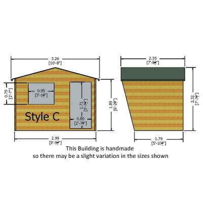 Security Cabin shed 10 x 6