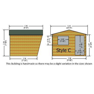 Security Cabin shed 10 x 8
