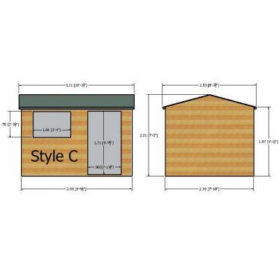 Suffolk Shed 10 x 8