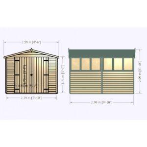 Overlap Dipped Double Door flatpacked 10 x 8