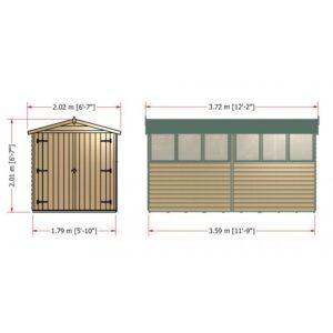Overlap Dipped Double Door flatpacked 12 x 6ft