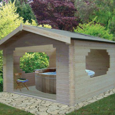 Bere Log Cabin 11ft G x 11ft