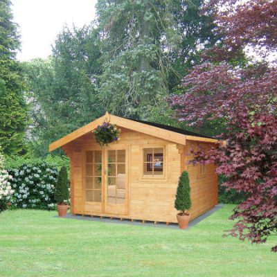 Tunstall Log Cabin 14 x 14ft