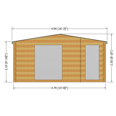 Bourne Log Cabin 16ft G x 12ft