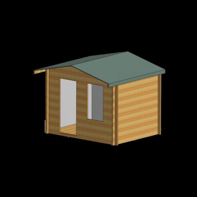Bucknells Log Cabin 10ft G x 8ft