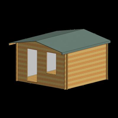 Bucknells Log Cabin 12ft G x 16ft