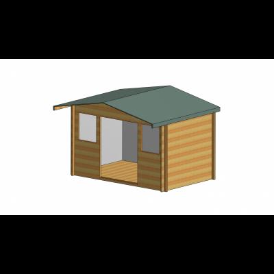 Clipstone Log Cabin 12ft G x 12ft