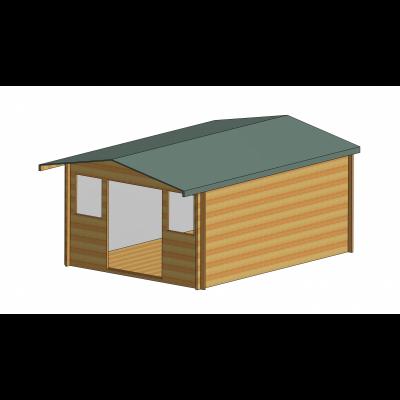 Clipstone Log Cabin 12ft G x 16ft