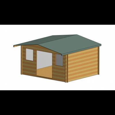 Clipstone Log Cabin 14ft G x 12ft