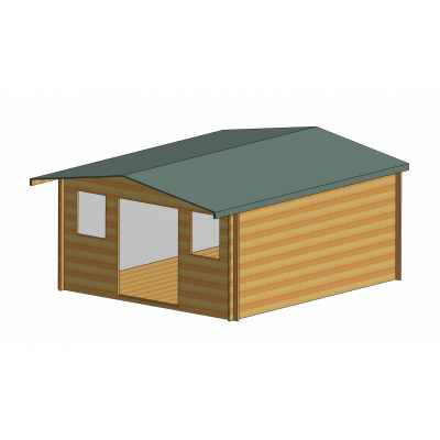 Clipstone Log Cabin 14ft G x 16ft