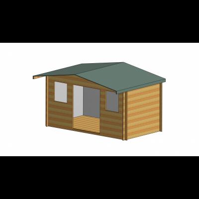 Clipstone Log Cabin 14ft G x 8ft
