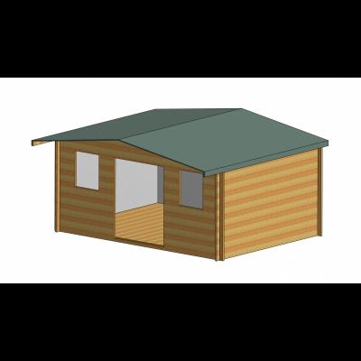 Clipstone Log Cabin 16ft G x 12ft