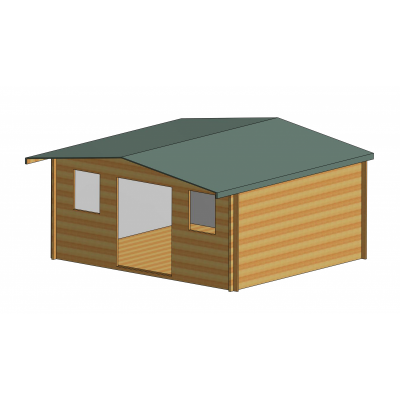 Clipstone Log Cabin 16ft G x 14ft