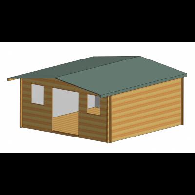 Clipstone Log Cabin 16ft G x 16ft