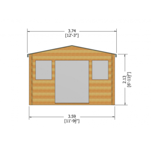 Clipstone Log Cabin 12ft G x 8ft