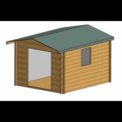 Dalby Log Cabin 10ft G x 12ft