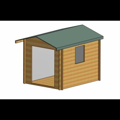 Dalby Log Cabin 10ft G x 8ft