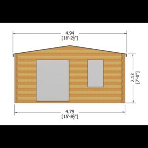 Glenmore Log Cabin 16ft G x 10ft