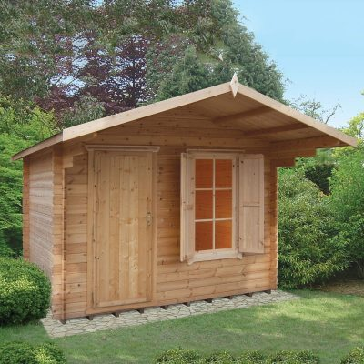 Hopton Log Cabin 10ft G x 8ft