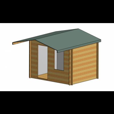 Hopton Log Cabin 10ft G x 8ft