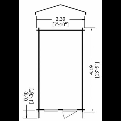Norwood Log Cabin 8 x 14ft