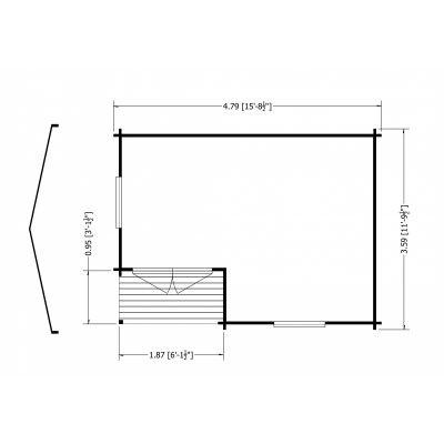 Ringwood Log Cabin 12 x 16ft