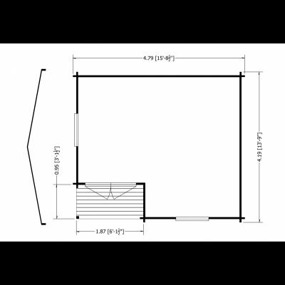 Ringwood Log Cabin 14 x 16ft