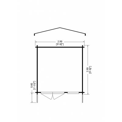 Tunstall Log Cabin 10 x 10ft