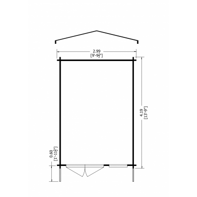 Tunstall Log Cabin 10 x 14ft