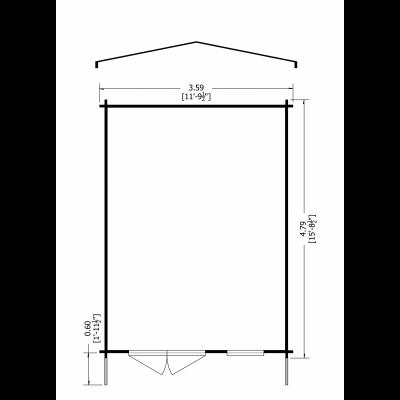 Tunstall Log Cabin 12 x 16ft