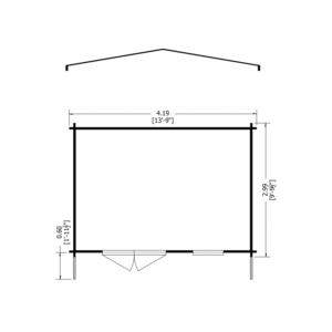 Tunstall Log Cabin 14 x 10ft