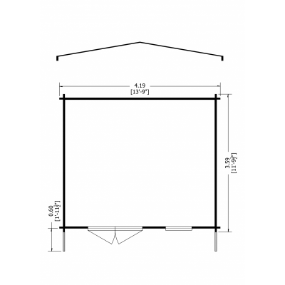 Tunstall Log Cabin 14 x 12ft
