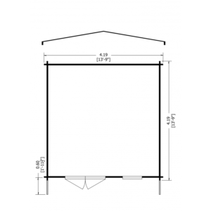 Tunstall Log Cabin 14 x 14ft