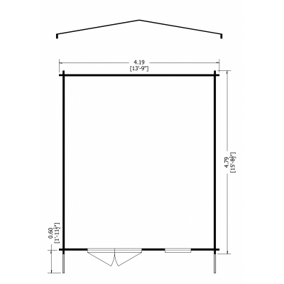Tunstall Log Cabin 14 x 16ft
