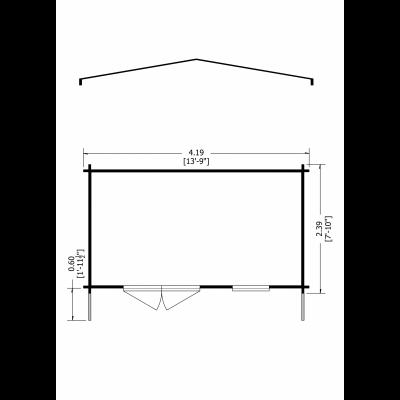 Tunstall Log Cabin 14 x 8ft