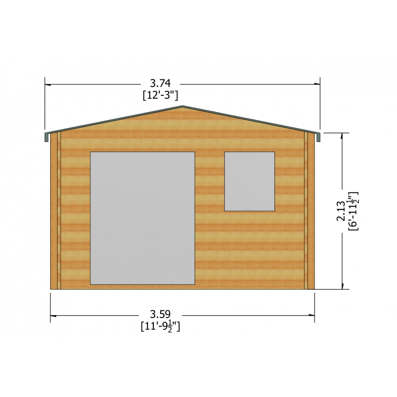 Tunstall Log Cabin 12 X 8ft Colchester Sheds And Fencing