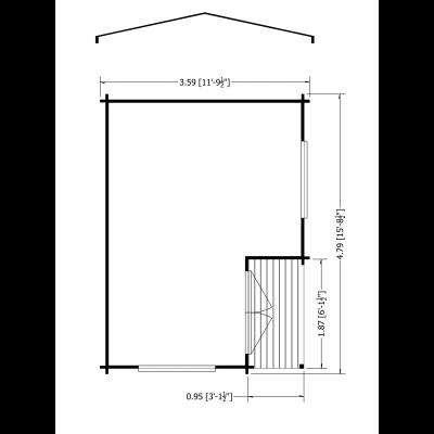 Twyford Log Cabin 12 x 16ft