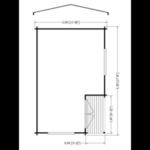 Twyford Log Cabin 12 x 18ft