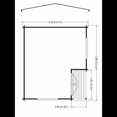 Twyford Log Cabin 14 x 16ft