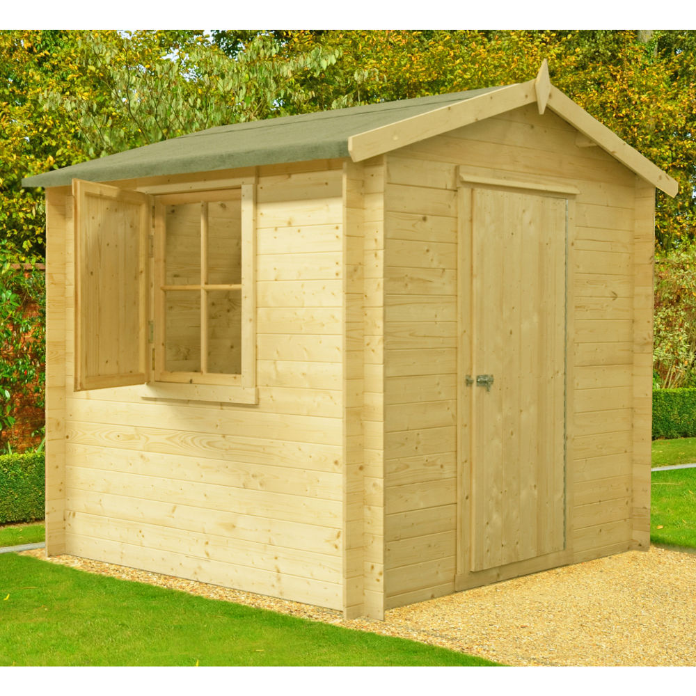 Camelot Log Cabin 7ft X 7ft Colchester Sheds And Fencing